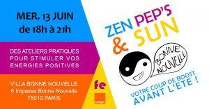 BonneNouvelle #1, Ateliers Bien-Etre : Zen Pep's & sun !